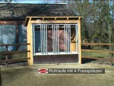 Horse Feeder, Hay Feeder, Horse Shed, Chicken For Dogs, Images Gif, Barns Sheds, Horse Farms, Trail, Horses