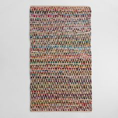 Chevron Recycled Cotton Chindi Area Rug - v1
