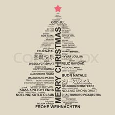 """""""Merry Christmas"""" in different languages: Say it differently! """"Merry Christmas"""" in different languages: Say it differently! Unusual Christmas Trees, Types Of Christmas Trees, Christmas Text, Christmas Cards, Christmas Stuff, Merry Christmas Images, Merry Christmas Sign, Christmas Ideas, Holiday Images"""
