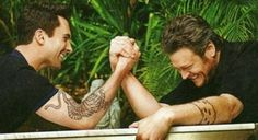 Have Adam Levine and Blake Shelton arm wrestle over me...ahhh