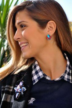 Cosa mi metto? - Fabrizia Spinelli con il nostro #orecchino JOELLE  #MercantiaBijoux #Bijoux #earring