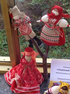 the couple. Russian cloth traditional doll.