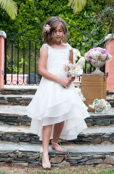 Adorable Flower Girl Dresses for the Little Miss in Your Wedding:   Flower Girl Dress with Flowy Tiered Skirt