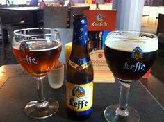 At Cafe Leffe in Brussels