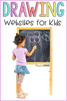 5 valuable drawing websites for kids that include printables, tutorials, videos, and popular themes and topics to help encourage young artists. Help them learn to draw with fun art experiences! #drawing #artforkids #directeddrawing