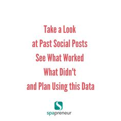 Don't just post and run - take a good look at a month's worth of social posts and ask yourself the following questions: What worked? What didn't work? What can you Improve with your posts?  This will help you to refine and get the right messages out to your community.  #dayspa #relaxing #spa #spaprofessional #massagetherapist #aesthetician #nailtech #nailpro #frontdesk #clients #business #spabiz #spabusiness #entrepreneur #waxing #wisdom #spalife #work #job #jobs #massage #nails #nailart…