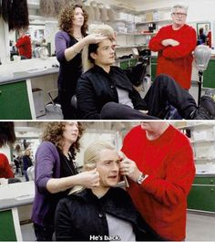 The Hobbit behind the scenes BTS - Orlando Bloom make up #Legolas