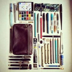 Ah, and herein lies the art of the Smashbook - markers, pencils, colors etc. The Journal Diaries- Ellina's Commonplace Notebook / Seaweed Kisses Filofax, Journal D'art, Journal Notebook, Nature Journal, Commonplace Book, Pen And Paper, Art Journal Inspiration, Travelers Notebook, Art Supplies