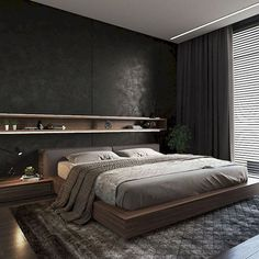 Beautiful Master Bedrooms with Modern Interior Decor - Gazzed - Designer bedroom design. Beautiful Master Bedrooms with Modern Interior Decor The Effective Picture - Modern Master Bedroom, Modern Bedroom Design, Master Bedroom Design, Minimalist Bedroom, Home Decor Bedroom, Modern Interior Design, Master Bedrooms, Bedroom Ideas, Modern Mens Bedroom