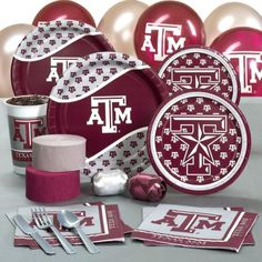 Texas A & M Aggies College Party Pack for 16 Guests