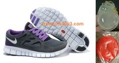 Mens Nike Free Run 2 Grey Purple White Shoes