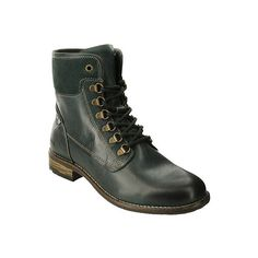 Women's Taos Footwear Ringer Combat Boot ($189) ❤ liked on Polyvore featuring shoes, boots, ankle booties, casual, heels, lace up chunky heel booties, lace up heeled boots, chunky heel booties, army combat boots and heeled booties