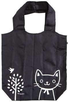 4f25921399 Kawaii big shopping bag with cat and tree