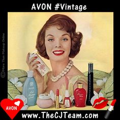 Vintage Avon - Summer. Avon. Step back in time and see the new ideas for summer! Avon had you covered in your favorite fragrances then as well as now. Regularly $1.99 and up. Shop online with FREE shipping with any $40 online Avon purchase. #Avon #CJTeam #Sale #Summer #Vintage #Makeup #1950Avon #NEW Shop Avon #C18 Fragrance Sale online @ www.TheCJTeam.com