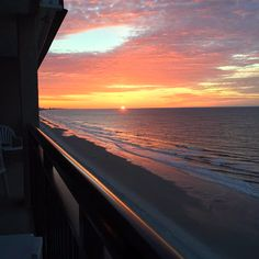 Waking up oceanfront in Myrtle Beach, South Carolina brings a smile to your face every time! Photo via Instagram by @leslieslane | Click on the pin to check out places to stay and more