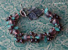 handmade bracelet berries grape frosted rękodzieło bransoletka grono ручная_работа браслет ягоды виноград