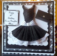 If you need any help with your Card Making please post a comment, and I will get back to you as soon as I can. Dress Card, Handmade Dresses, Your Cards, Couture, Ball Gowns, Birthday Cards, Baby Kids, Card Making, Greeting Cards