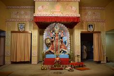 Jagaddhatri-Puja-2017-at-Saradapitha-J006 Sri Sri Jagaddhatri Puja at Ramakrishna Mission Saradapitha (Belur Math) on 29 Oct 2017