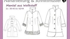 Schnittmuster Mantel aus Walkstoff bei makerist