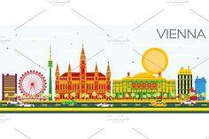 #Vienna #Skyline with #Color #Buildings by Igor Sorokin on @creativemarket