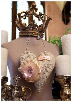 Pretty Heart Sachet or ornament