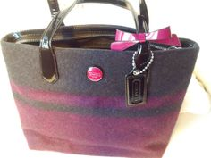 'BNWT~ F24786 Coach Signature Blanket Tote Passion Berry' is going up for auction at  3pm Sun, Dec 15 with a starting bid of $1.