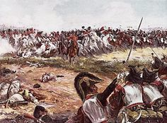 Milhaud's Cuirassiers and Chevaulegers-Lancers under Jaquinot counter charge and break the Scots Greys at Waterloo. Napoleon Waterloo, Waterloo 1815, Battle Of Waterloo, Military Diorama, Military Art, Military History, Le Colonel Chabert, Napoleon French, Bataille De Waterloo