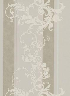 Vlies-Tapete-Erismann-Myself-6858-38-Streifen-Ornamente-creme-grau-braun-Glitzer