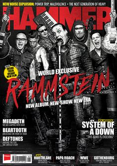 MHR296 Rammstein cover from 2017 for Metal Hammer Magazine in the UK.