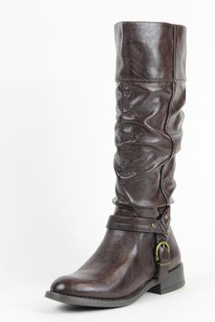 White Mountain Lefty Brown Knee-High Boots