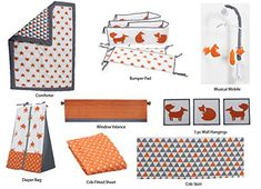 Looking for Bacati - Playful Foxs Orange/Grey 10 Pc Crib Set Including Bumper Pad ? Check out our picks for the Bacati - Playful Foxs Orange/Grey 10 Pc Crib Set Including Bumper Pad from the popular stores - all in one. Baby Crib Bedding Sets, Nursery Crib, Crib Sets, Toddler Bed Sheet Sets, Baby Activity Gym, Crib Rail Cover, Baby Bumper, Nursing Pillow, Kids Storage