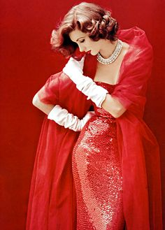 """onlyoldphotography: """"Milton Greene: Suzy Parker, Cover shoot, 1952 """""""