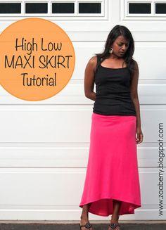 Hi-Low Maxi #Skirt #Sewing #Tutorial
