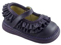Wee Squeak Purple Ruffle Mary Janes $29.95 http://www.meandmyfeet.com/Wee-Squeak-Purple-Ruffle-Mary-Janes #Purple #Ruffle #MaryJanes #Girls #Shoes #Infant #Toddler #Child
