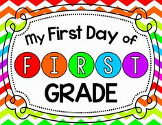 Free Printable for the First Day of School.  Take an individual photo of each child holding the sign and send photos home during the first week of school.