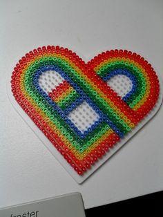 Heart hama perler design by Madelon