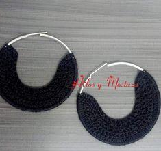 Candongas en crochet Crochet Earrings, Hoop Earrings, Jewelry, Fashion, Necklaces, Hipster Stuff, Tejidos, Accessories, Moda