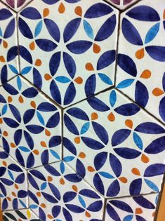 cotto siciliano! www.architechome.it #flower #blue #home  #homedecor #design #kitchen #tiles #acireale #catania