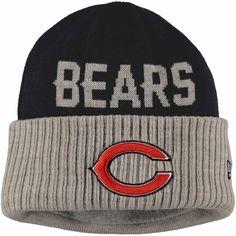 Men's Chicago Bears New Era Navy Blue Camo Top Knit Hat