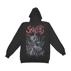 Skinless Men's Speared Skull Hooded Sweatshirt Black - http://bandshirts.org/product/skinless-mens-speared-skull-hooded-sweatshirt-black/