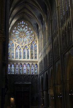 Vitraux ouest, cathédrale, Metz, Lorraine, France