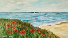 painting poppies for beginners - YouTube