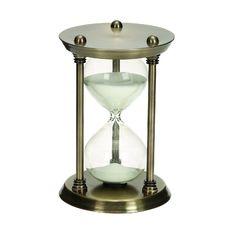 Woodland Imports 58158 Metal/Glass 30 Minutes Hourglass Half Hour Nautical Ship Sand Timer