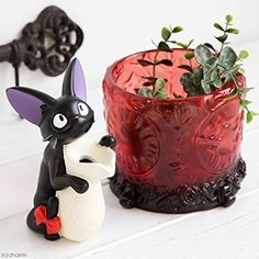 Studio Ghibli Kiki's Delivery Service Flower Pot Cover Antique Flower Glass