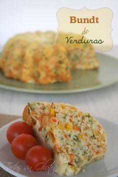 ¿Quién se anima con este delicioso Bundt de verduras sin gluten de @Tartas Eu Eu Sin Gluten? #Recetas