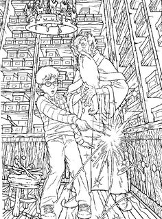 Coloring Page Harry Potter Kids N Fun