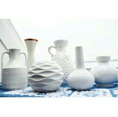 White Vases, Op Art, Mid-century Modern, Vintage Items, Daisy, Mid Century, Pottery, Shop, Ceramica
