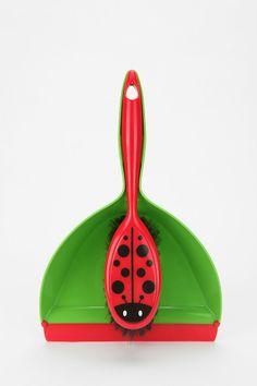 Ladybug Dustpan & Brush Set - Urban Outfitters