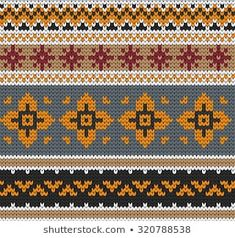 Find Knitted Varicolored Seamless Pattern stock images in HD and millions of other royalty-free stock photos, illustrations and vectors in the Shutterstock collection. Tapestry Crochet Patterns, Stitch Patterns, Knitting Patterns, Fair Isle Knitting, Knitting Socks, Fair Isle Pattern, Stitch Design, Quilt Blocks, Christmas Sweaters