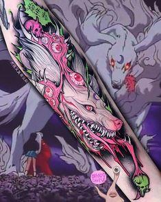 Tattoo by Brando Chiesa from Electric Tattoos Wicked Tattoos, Badass Tattoos, Body Art Tattoos, Tattoo Drawings, Wolf Tattoo Design, Tattoo Designs, Redwood Tattoo, Minimalist Tattoo Meaning, Minimalist Tattoos